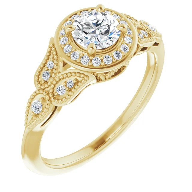 Half Carat Vintage Inspired Engagement Ring