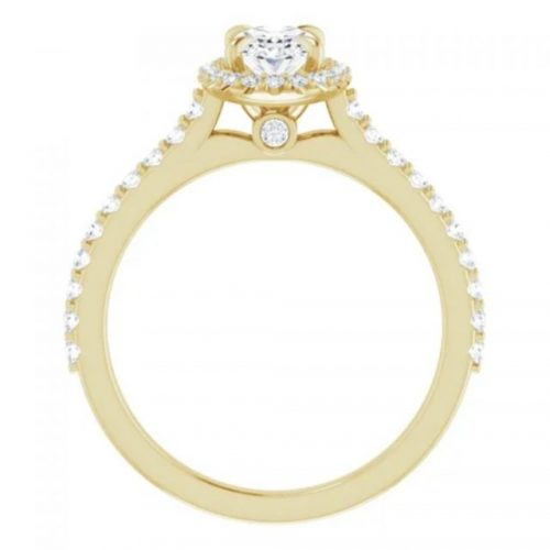 Yellow Gold oval vintage halo