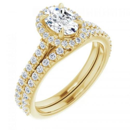 Yellow Gold Engament & Wedding ring set