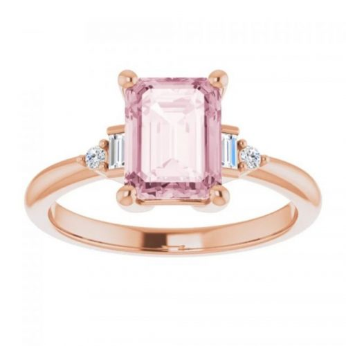 Morganite vintage engagement Ring