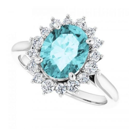 Gemstone Engagment Ring